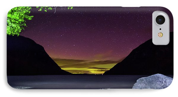 Aurora Over Lake Willoughby IPhone Case by Tim Kirchoff