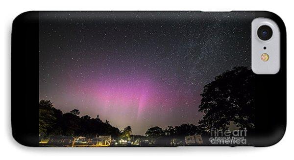 Aurora Over Sagadahoc Bay Campground IPhone Case by Patrick Fennell