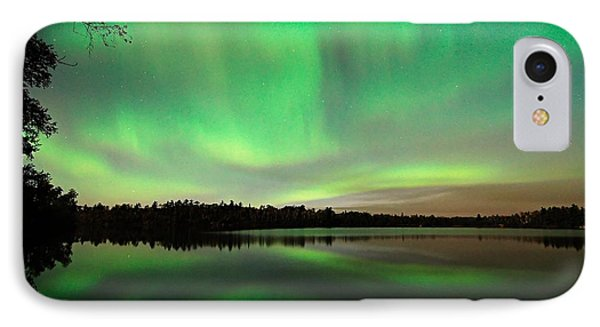 Aurora Over Tofte Lake IPhone Case by Larry Ricker