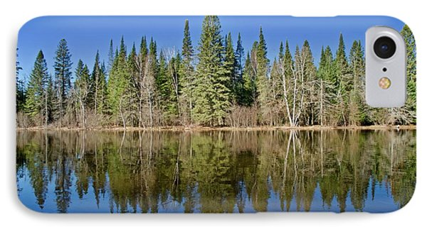 IPhone Case featuring the photograph Ausable Reflections 1768 by Michael Peychich