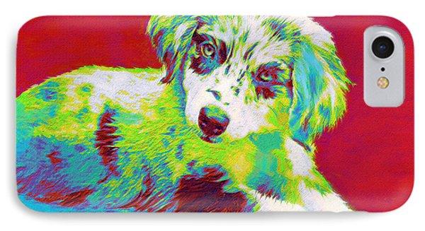 Aussie Puppy IPhone Case by Jane Schnetlage