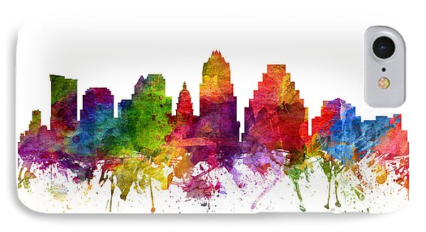 Austin Skyline iPhone 7 Case - Austin Cityscape 06 by Aged Pixel