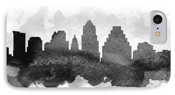 Austin Cityscape 11 IPhone Case by Aged Pixel