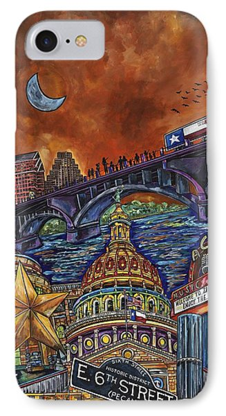 IPhone Case featuring the painting Austin Montage by Patti Schermerhorn