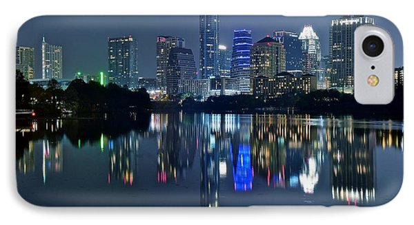 Austin Night Reflection IPhone Case
