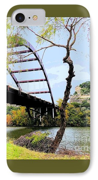 Austin Pennybacker Bridge In Autumn IPhone Case