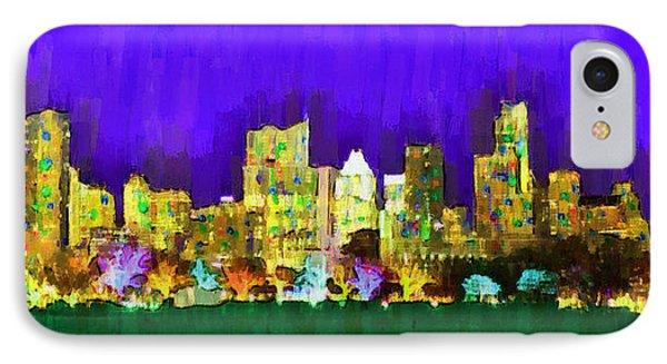 Austin Skyline 154 - Da IPhone Case by Leonardo Digenio
