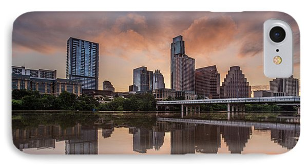 Austin Skyline Sunrise Reflection IPhone Case