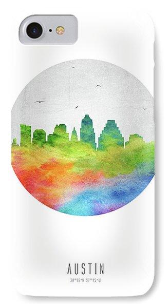 Austin Skyline Ustxau20 IPhone Case by Aged Pixel