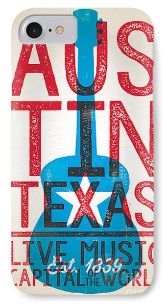 Austin Texas - Live Music IPhone Case by Jim Zahniser