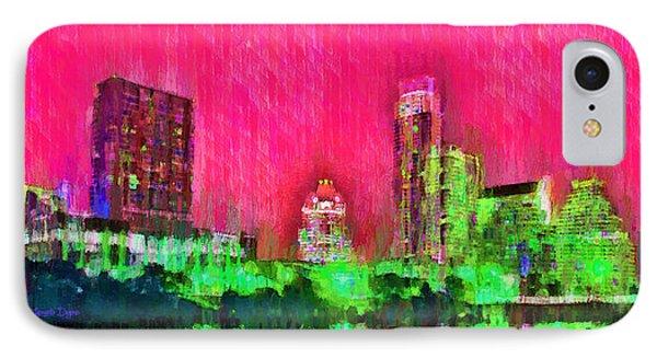 Austin Texas Skyline 106 - Pa IPhone Case