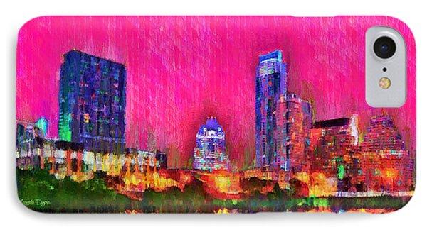 Austin Texas Skyline 112 - Pa IPhone Case