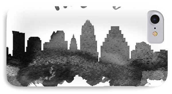 Austin Texas Skyline 18 IPhone Case by Aged Pixel