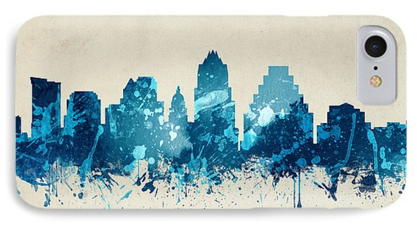 Austin Texas Skyline 20 IPhone Case by Aged Pixel