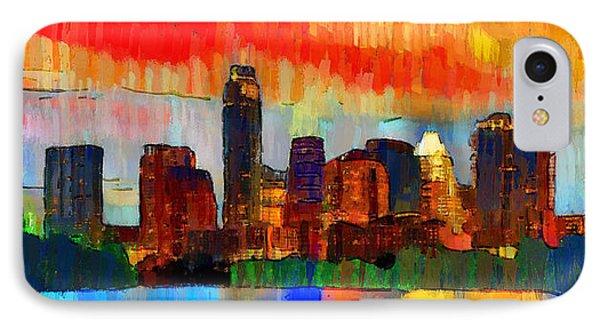 Austin Texas Skyline 207 - Da IPhone Case