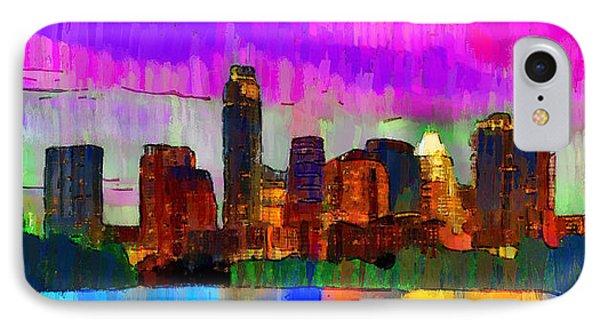 Austin Texas Skyline 209 - Pa IPhone Case by Leonardo Digenio