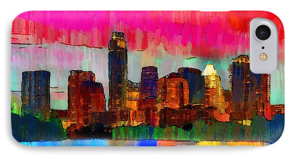 Austin Texas Skyline 210 - Pa IPhone Case by Leonardo Digenio