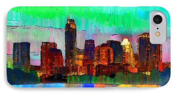 Austin Texas Skyline 214 - Da IPhone Case by Leonardo Digenio