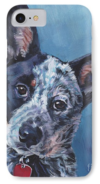 IPhone Case featuring the painting Australian Cattle Dog by Lee Ann Shepard