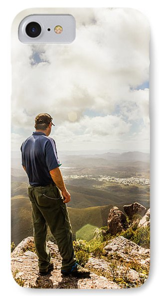 Australian Explorer Sightseeing Mt Zeehan IPhone Case