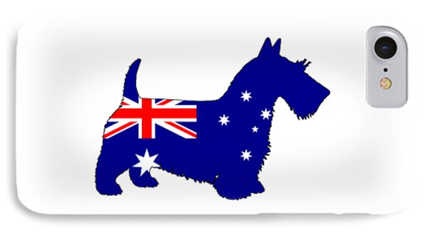 Australian Flag - Scottish Terrier IPhone Case by Mordax Furittus