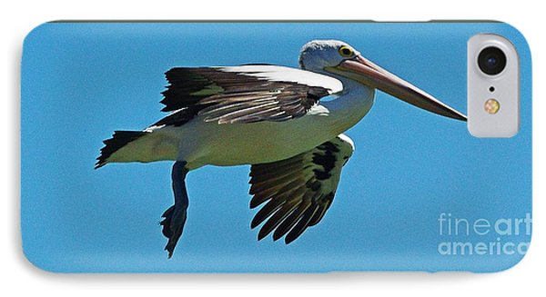 Australian Pelican In Flight Phone Case by Blair Stuart