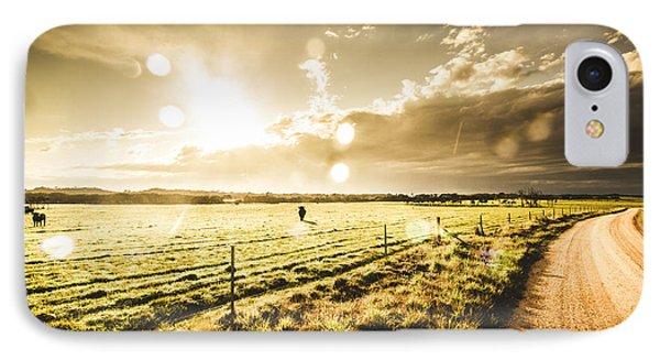 Australian Rural Dirt Road  IPhone Case by Jorgo Photography - Wall Art Gallery