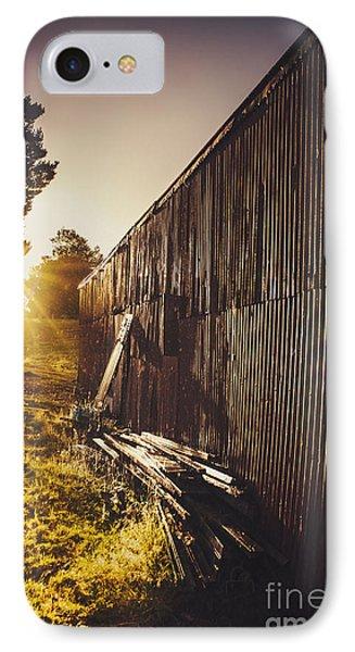 Australian Rural Farm Shed In Waratah Tasmania IPhone Case
