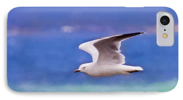 Australian Seagull In Flight IPhone Case by Michelle Wrighton