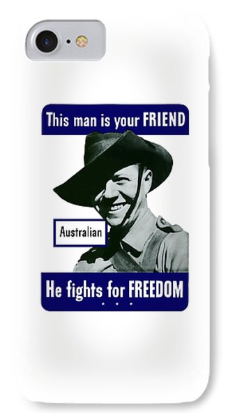 Australian This Man Is Your Friend  IPhone Case