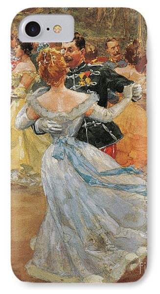Austria, Vienna, Emperor Franz Joseph I Of Austria At The Annual Viennese Ball  IPhone Case