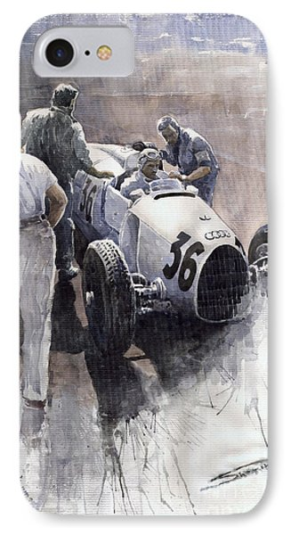 Auto Union B Type 1935 Italian Gp Monza B Rosermeyer IPhone Case by Yuriy  Shevchuk