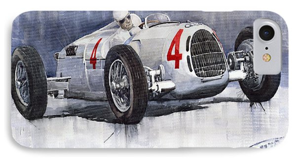 Auto Union C Type 1937 Monaco Gp Hans Stuck Phone Case by Yuriy  Shevchuk