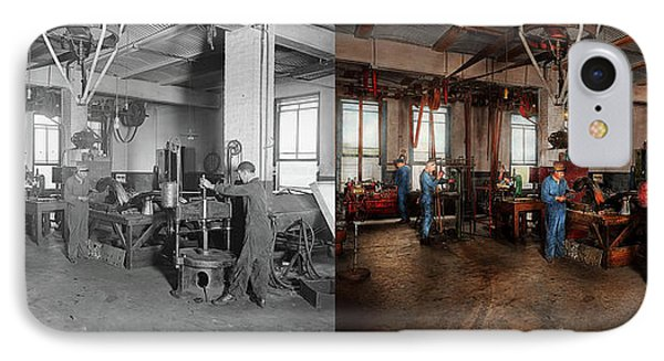 IPhone Case featuring the photograph Autobody - The Bodyshop 1916 - Side By Side by Mike Savad