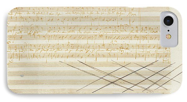 Autograph Music Manuscript, Zwei Deutsche Kirchenlieder IPhone Case