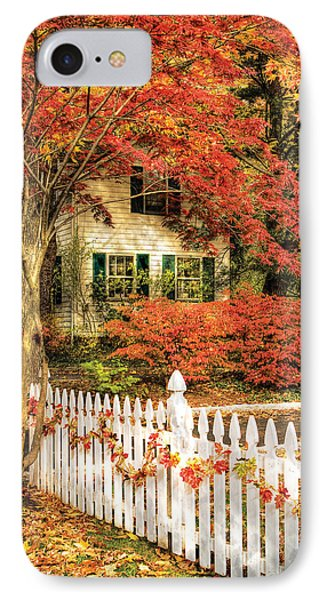 Autumn - House - Festive  Phone Case by Mike Savad