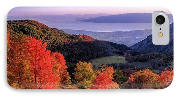 Autumn Above Utah Lake IPhone Case
