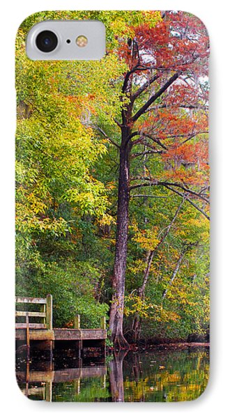 Autumn Along Brices Creek IPhone Case by Bob Decker