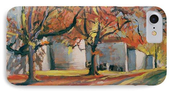 Autumn Along Maastricht City Wall IPhone Case by Nop Briex