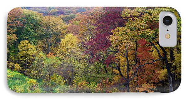 IPhone Case featuring the photograph Autumn Arrives In Brown County - D010020 by Daniel Dempster