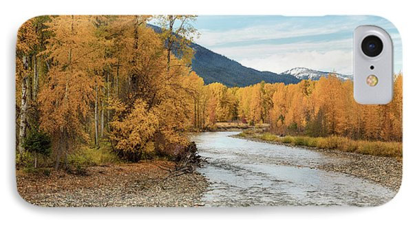 Autumn Aspen By The River IPhone Case by Mary Jo Allen
