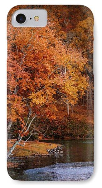 Autumn At Chickasaw Lake IPhone Case by Jai Johnson