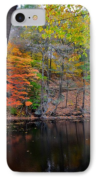Autumn At Echo Bridge IPhone Case by Corinne Rhode