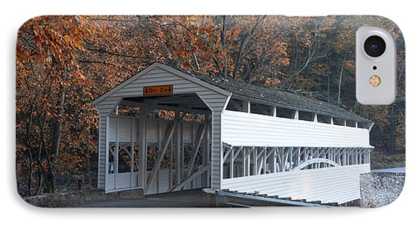 Autumn At Knox Covered Bridge In Valley Forge Phone Case by Bill Cannon