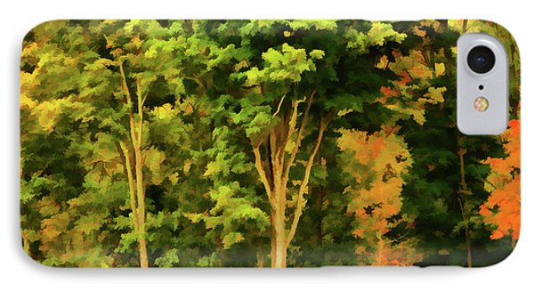 Autumn At Olana 1 IPhone Case by Lanjee Chee