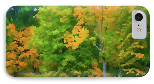 Autumn At Olana 2 IPhone Case by Lanjee Chee