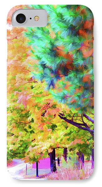 Autumn At Olana 4 IPhone Case by Lanjee Chee