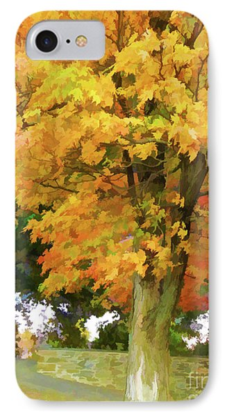 Autumn At Olana 5 IPhone Case by Lanjee Chee