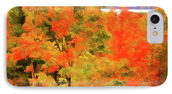 Autumn At Olana 6 IPhone Case by Lanjee Chee