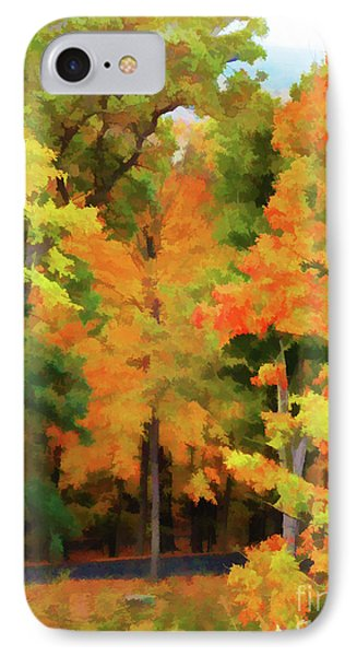 Autumn At Olana 7 IPhone Case by Lanjee Chee